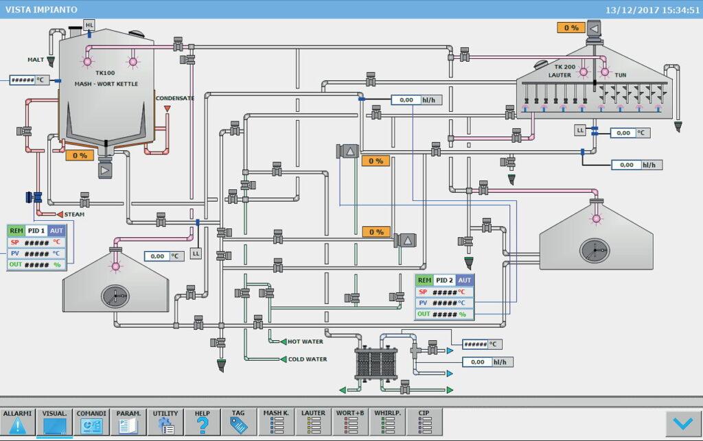 instalacje browarnicze - system kontroli linii produkcyjnej