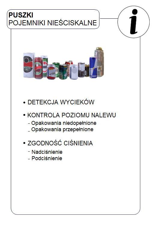 Kontrola szczelności i próżni produktów linii produkcyjnej