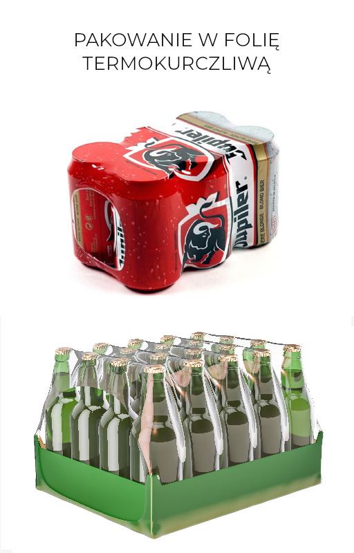 Maszyny pakujące dla puszek i butelek